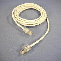 Leviton White Cat 5 10 Ft Ethernet LAN Patch Cord Network Cable Booted Cat5 62454-10W