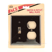 Toggle Switch Wallplate Duplex Receptacle Outlet Cover 2-Gang Switchplate Brown 2138B Ace