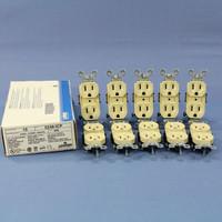 10 Leviton RESIDENTIAL Ivory Duplex Receptacle Outlets NEMA 5-15R 15A 125V 5248-I