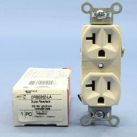 Pass and Seymour Light Almond Construction Grade Straight Blade Duplex Outlet Receptacle NEMA 5-15R 15A 125V CRB5362-LA