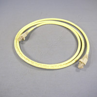 Leviton Light Yellow 5' Cat 6+ Extreme Ethernet LAN Patch Cord Cable Cat6 Plus 5 Ft 62460-5Y