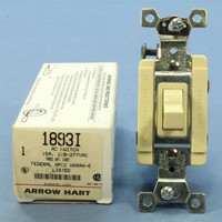 Arrow Hart Ivory Specification Grade Toggle Wall Light Switch 15A 120/277V 3-Way 1893I