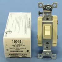 Arrow Hart Ivory Specification Grade Toggle Wall Light Switch 20A 120/277V 3-Way 1993I