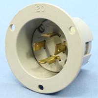 Arrow Hart Gray Locking Flanged Inlet Turn Twist Plug Industrial Grade NEMA L16-20P 20A 480V 6435