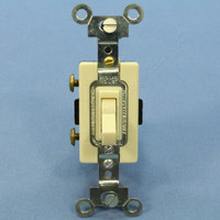 Arrow Hart Ivory 15A 120-277V AC Single Pole ON/OFF Space Saver Commercial Toggle Switch CSGS115I