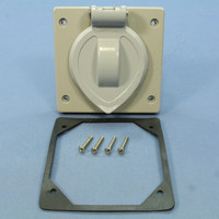 Arrow Hart Gray Lift Lid Flip Cover for Wet Location 20A 30A Locking Receptacle 7777