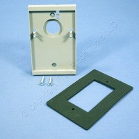 Gray Leviton Electrical Box Mounting Adapter & Gasket Lining 6781-GY