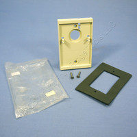 Leviton Ivory Electrical Box Wall Surface Mounting Adapter With Gasket 6781-I