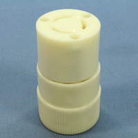 Bryant White Non-NEMA Twist Turn Locking Plug Connector Industrial Grade Nylon 10/15A 125/250V 7565NC