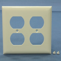 Bryant White Thermoplastic 2-Gang Outlet Cover Duplex Receptacle Wallplate N1302