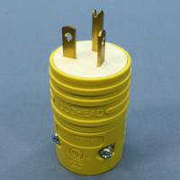 Daniel Woodhead Yellow Rubberized Nylon Connector Rubberized Nylon Plug NEMA 5-20P 20A 125V 5366-RB