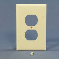 Cooper Light Almond Mid-Size 1-Gang Unbreakable Receptacle Nylon Wallplate Outlet Cover PJ8LA