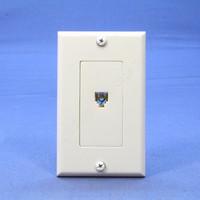 Leviton White Decora Phone Jack Wall Plate Telephone C2449-W