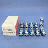 10 Pass & Seymour Ivory Commercial HARD USE Construction Grade DOUBLE POLE Toggle Light Switches 15A 120/277V CSB15AC2-I