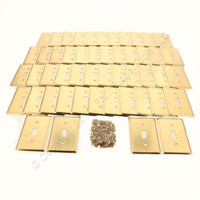 50 Creative Accents 1-Gang Solid Brass Toggle Switch Switchplate Cover Wallplates 15041