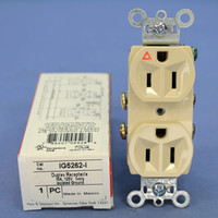 Pass & Seymour Ivory Heavy-Duty Grade Isolated Ground Straight Blade Duplex Outlet Receptacle 5-15R 15A 125V IG5262-I