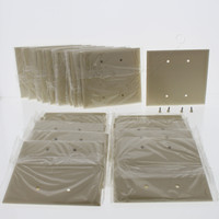 20 Pass & Seymour Commercial Grade Ivory Jumbo LARGE Thermoset Plastic 2-Gang Cover Blank Wallplates Box Mount SPO23-I