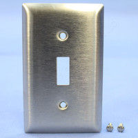 Pass and Seymour Type 302/304 NON-MAGNETIC Stainless Steel 1-Gang Toggle Switch Cover Wallplate Smooth Metal SS1