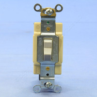 Cooper Gray COMMERCIAL Grade Toggle Wall Light Switch 4-Way 15A 120/277V Bulk CS415GY
