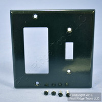 Leviton Black Decora GFCI Switch Cover Receptacle Wall Plate Switchplate 80405-E