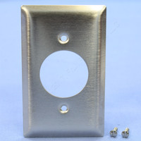 "Pass and Seymour NON-MAGNETIC Stainless Steel 1.60"" Receptacle 1-Gang Wallplate 20A 30A Locking Outlet Cover SS720"