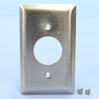 "Pass and Seymour NON-MAGNETIC Type 302 Stainless Steel 1-Gang 1.406"" Receptacle Outlet Wallplate Cover SS7"