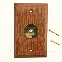 Philmore Wood SCRATCHED Flush Mount Gold Plated Contacts 4-Conductor Telephone Wall Jack Plate TWP52W