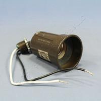 Pass & Seymour Brown Adjustable Die-Cast Outdoor Medium Base Lampholder PAR1BR