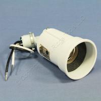 Pass & Seymour White Adjustable Die-Cast Outdoor Medium Base Lampholder PAR1W