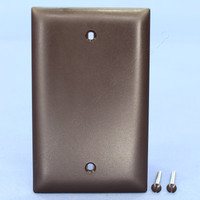 Pass and Seymour Trademaster Brown UNBREAKABLE Nylon Blank Cover Box Mount Wallplate TP13