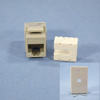 Gray Cat 6 Snap-In Modular Data Jack 110 Style 8-Position RJ45 PLUS Wallplate