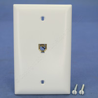 Pass & Seymour Trademaster White Flush Mount RJ11 Modular 4-Wire Telephone Jack 1-Gang Wallplate Type 625B4 TPTE1-W