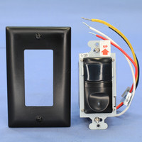 Pass and Seymour Black Vacancy Sensing Switch SP/3-Way Manual/Auto On 600W 120VAC 1/6HP RW3U600-BKCC4
