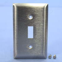 Pass and Seymour Type 430 Magnetic Stainless Steel 1-Gang Toggle Switch Cover Wallplate Smooth Metal SL1
