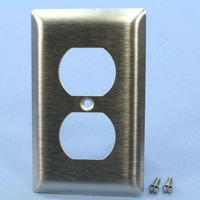 Pass and Seymour Type 430 Magnetic Stainless Steel Standard Size 1-Gang Duplex Receptacle Wallplate Cover SL8