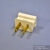 P&S Ivory Colored 1-15 Straight Blade Plug NEMA 1-15P 10A Polarized 123-PI