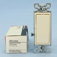 Cooper Light Almond ON/OFF Single Pole Decorator Rocker Wall Light Switch 15A 120/277V 6501LA