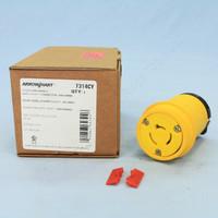 Cooper Yellow Twist Turn Locking Plug Connector Non-NEMA 20A 125/250V 3P3W Hart-Lock Industrial Specification 7314CY