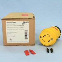Cooper Yellow Twist Turn Locking Plug Connector Non-NEMA 20A 120/208V 3ØY 4P4W Industrial Grade 7413CY