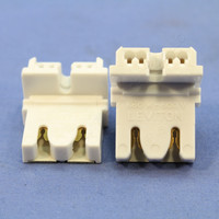 2 Leviton Panel Mount Fluorescent Lamp Holder T-8 Light Sockets G13 Base T8 Medium Bi-Pin 13451-020