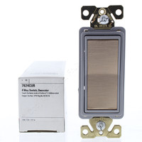 Cooper Antimicrobial CuVerro Rose Copper Commercial Decorator 4-Way Rocker Light Switch Control 20A 120/277V 7624CUR