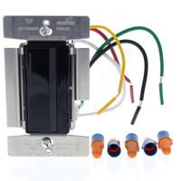 Cooper ACCELL Black Smart Master Dimmer Preset Fluorescent Mark 10 Light Switch Multi-Way 1000VA 120VAC AF10-BK