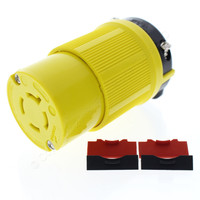 Cooper Yellow CORROSION RESISTANT Turn Twist Locking Plug Connector Hart-Lok NEMA L14-20R 20A 125/250V 3P4W CRL1420C