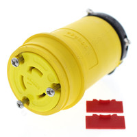 Cooper Yellow Twist Turn Locking Plug Connector NEMA L11-20R 20A 125/250V 3Ø Severe Duty L1120CY