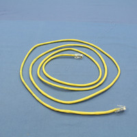 Leviton Yellow Cat 5 7 Ft Ethernet LAN Patch Cord Network Cable Cat5 52455-7Y