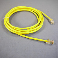 Leviton Yellow Cat 5 10 Ft Ethernet LAN Patch Cord Network Cable Cat5 52455-10Y