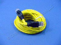 Leviton Yellow Cat 5e 15 Ft Ethernet LAN Patch Cord Network Cable Booted Cat5e 5G455-15Y