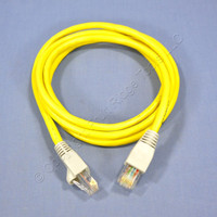 Leviton Yellow Cat 5 5 Ft Ethernet LAN Patch Cord Network Cable Cat5 Silver Boot 5G454-5S