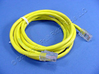 Leviton Yellow Cat 5 5 Ft Ethernet LAN Patch Cord Network Cable Cat5 52455-5Y