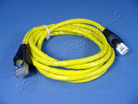 Leviton Yellow Cat 5e 5 Ft Ethernet LAN Patch Cord Network Cable Booted Cat5e 5G455-5Y